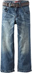 Lee Little Boys' Dungarees Belted Straight-Leg Jean