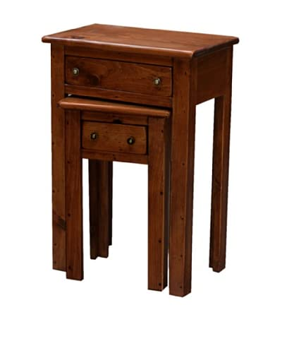2 Day Designs Nesting Tables, Pine