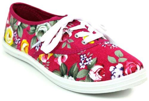 New Arrival Kali Footwear Women Avenue Floral Print Lace Up Flat Sneaker For Women Cheap Sale Multicolor Schemes