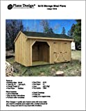 8' X 16' Firewood Storage Shed Project Plans -Design #70816
