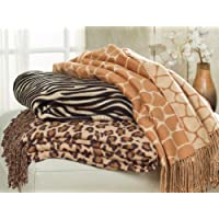 Animal pattern Jacquard Throw made from Bamboo Rayon