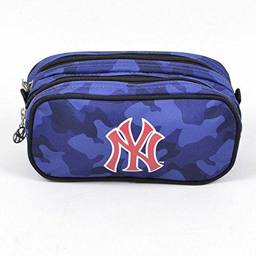 major-league-baseball-poche-supplementaire-trousse-rectangle-2-compartiments-bleu