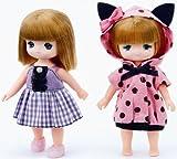 リカちゃん LW-22 ミキちゃんマキちゃんドレスセット ねこみみパジャマセット