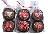 Two Chocolate Dipped Oreo Cookies Decorated with Hearts for Valentine's and Mother's Day