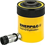 "Enerpac RCH-202 Single-Acting Hollow-Plunger Hydraulic Cylinder with 20 Ton Capacity, Single Port, 2.00"" Stroke Length"