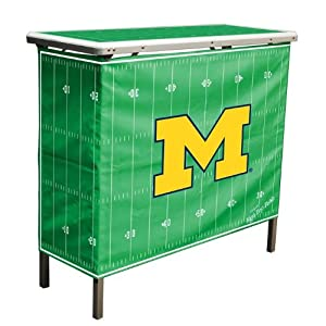 Wild%20Sports NCAA Michigan Wolverines Aluminum High Top Folding Tailgate Table With Carrying Case at Sears.com