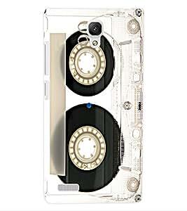 ColourCraft Retro Audio Cassette Design Back Case Cover for XIAOMI REDMI NOTE 4G