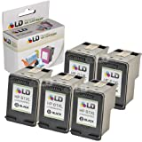 LD © Remanufactured Replacement Ink Cartridges for Hewlett Packard CH563WN (HP 61XL) High-Yield Black (5 Pack) for use in HP Deskjet 1000, 1010, 1050, 1051, 1055, 1056, 1512, 2050, 2510, 2512, 2514, 2540, 2542, 3000, 3050, 3050A, 3051A, 3052A, 3054, 3056A, 3510, 3511, 3512, 3516 & ENVY 4500, 4504, 5530, 5531 & Officejet 4630, 4632 Printers ~ LD Products