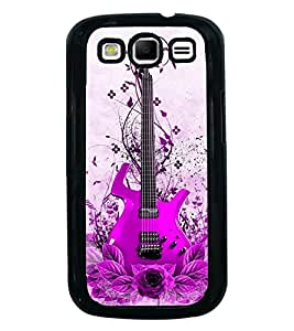 Fuson Premium 2D Back Case Cover Stylish pink Guitar With Yellow Background Degined For Samsung Galaxy S3::Samsung Galaxy S3 i9300