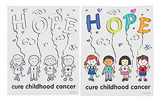 Childhood Cancer Awareness Coloring Pages (50 Pieces) Fundraiser/Activities/Coloring - 1