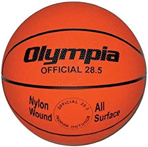 Intermediate Women Orange Rubber Basketballs - Set Of 6 by Olympia Sports