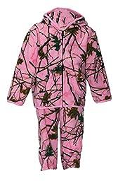 Infant Camo Two Piece Fleece Jacket & Pants Set, 3-6 months, Pink Camo