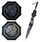 Black Panther Logo LED Umbrella (Color: Black, Tamaño: Standard)