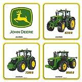 John Deere Coaster Set - Metal / Cork - Machines 46017