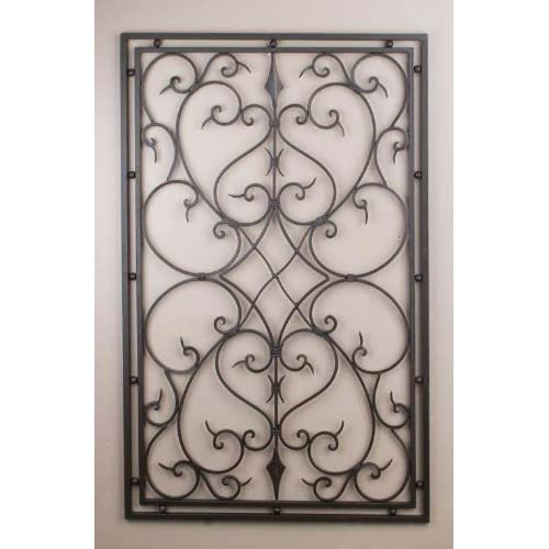 "Wrought Iron 30""x48"" Rectangle Wall Decor"