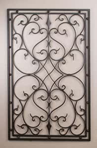 wrought iron 30 x48 rectangle wall decor. Black Bedroom Furniture Sets. Home Design Ideas