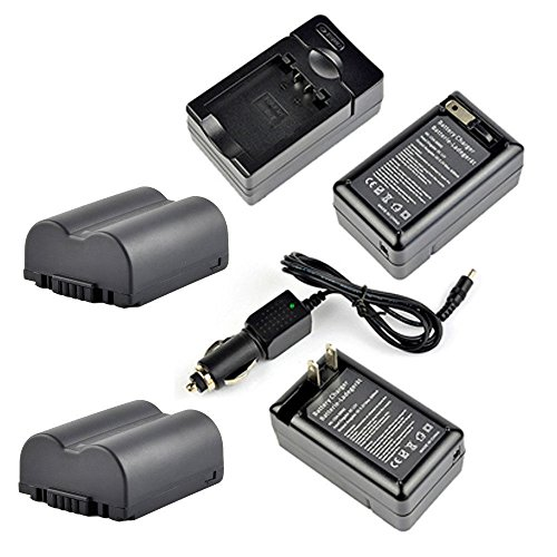 Two CGR-S006A Camera Battery + Charger for Panasonic Lumix DMC-FZ18 FZ28 FZ8 (Panasonic Lumix Dmc Fz28 compare prices)