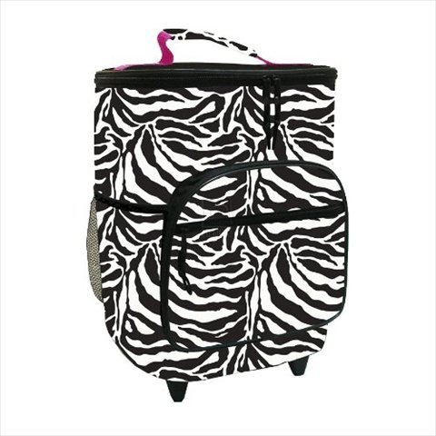Zebra Insulated Rolling Cooler Bag With Telescoping Handle, 16-Inch, 21-Quart Wheeled Cooler front-983301