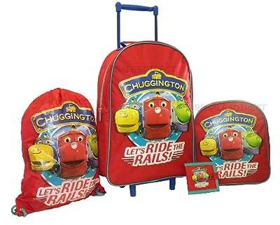 Trade Mark Collections Chuggington Travel Set includes Wheeled Bag/ Backpack/ Trainer Bag/ Wallet by Trade Mark Collections