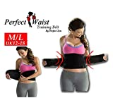 Hourglass Figure Waist Training Belt Slimming Shapewear Cincher Trainer (Black M/L 12-18)
