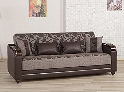Divamax Sofa Bed | Quantro Brown Flower