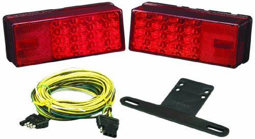 Wesbar Low Profile 3X8 Led Trailer Light Kit, Over 80-Inch