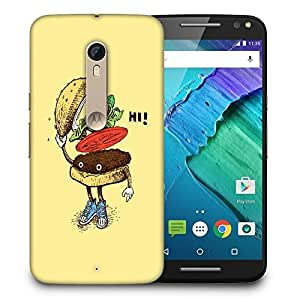 Snoogg Hi Sandwich Designer Protective Back Case Cover For MOTO X STYLE