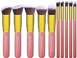 BS-MALL 2015 New Premium Synthetic Kabuki Makeup Brush Set Cosmetics Foundation Blending Blush Eyeliner Face Powder Brush Makeup Brush Kit (Golden Pink)