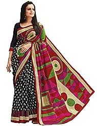 Vipul Exclusive Foil Work Bhagalpuri Silk Saree (Multicolor)