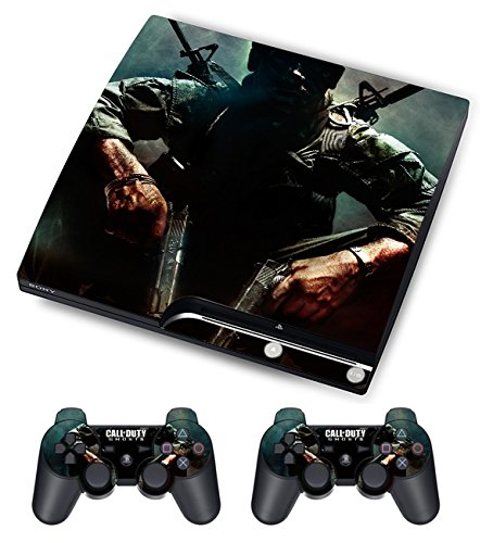 Designer Skin for Sony PS3 Slim Console System Plus Two(2) Free Decals For: Playstation 3 Dualshock Controller Call of Duty 10pcs lot vinyl for star wars ps4 sticker for sony playstation 4 console 2 controller skin sticker for ps4 skin free shipping