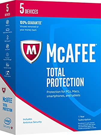 McAfee 2017 Total Protection-5 Devices [Key Code]