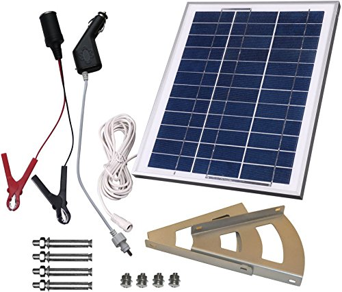 microsolar 10w solar panel charging kit for 12v battery plug play solar charge. Black Bedroom Furniture Sets. Home Design Ideas