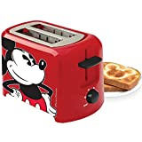Disney Classic Mickey Mouse Toaster - Two Slice Wide Slots Kitchen Electric