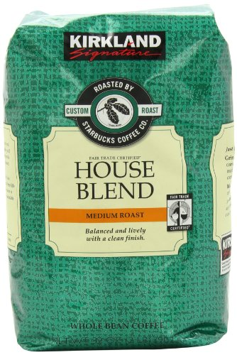 Signature's Kirkland Starbucks Bean Coffee, Medium Roast House Blend, 32 Ounce (Amazon Coffee Beans compare prices)