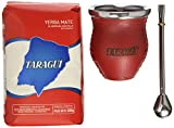 Taragui Yerba Mate + Bombilla + Glass & Leather Gourd