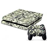 MONEY Vinyl Skin Decal for Sony PS4 Standard Edition