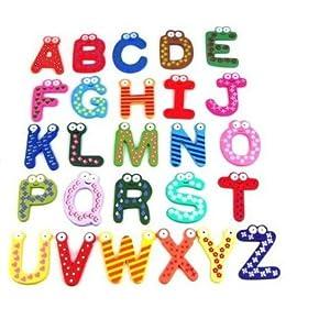 SODIAL(TM) Lettere AZ magnetiche colorate di legno del frigorifero bambini giocattoli educativi  Giochi e giocattoli recensioni