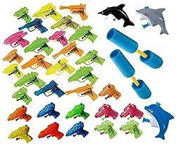 18 Piece Water Gun and Water Shooter Combo (Set Includes a Nice Assortment of Water Guns Shark Water