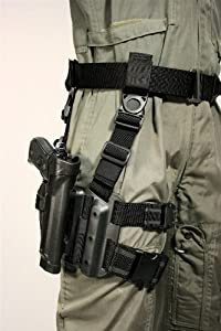 BLACKHAWK! Serpa Level 2 Tactical Black Holster, Size 00, Left Hand, (Glock 17/19/20/21/22/31/32 S&W M&P 9/40/45 )