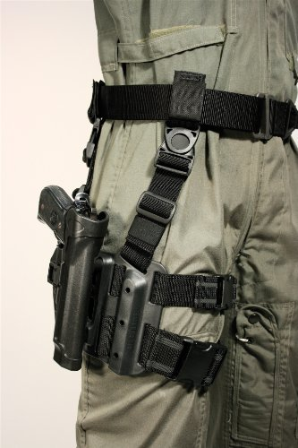 Blackhawk! Serpa Level 2 Tactical Black Holster, Size 26, Right Hand, (Glock 21Sf W/ Larger 1913 Rail Only )
