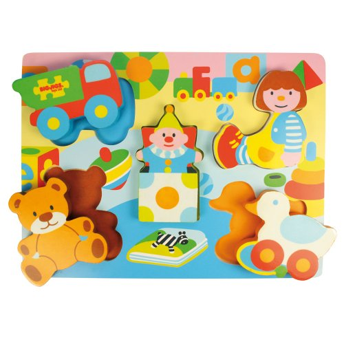 Bigjigs Toys BJ329 Chunky Lift Out Toys Puzzle