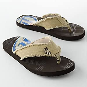 Miller Lite Men's Flip-Flops (with built-in bottle opener) - Size 8/9