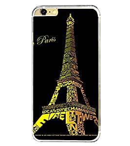 Eiffel Tower 2D Hard Polycarbonate Designer Back Case Cover for Apple iPhone 6 Plus :: Apple iPhone 6+