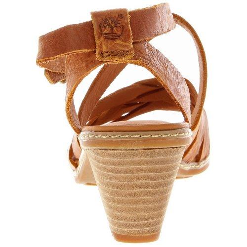 Timberland Women's Earthkeeeprs Montvale Woven Ankle-Strap Sandal,Orange/Orange,10 M US