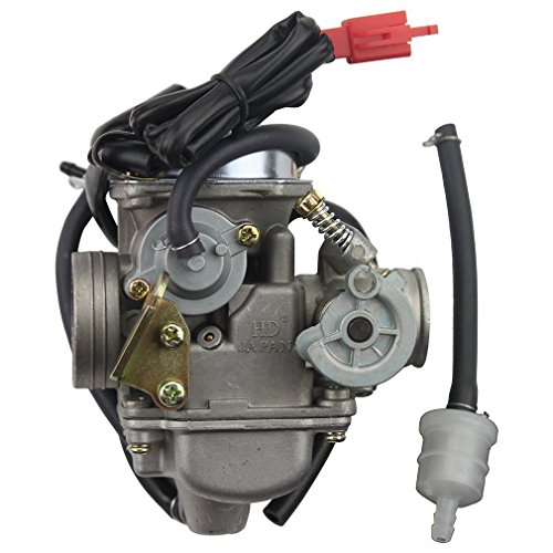 GOOFIT 24mm PD24J Carburetor Carb for GY6 125cc 150cc ATV Go Kart Moped and Scooter (Scooter Carburetor 150cc compare prices)