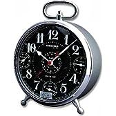 WEHRLE (ウェラ) 置き時計 アラーム 温度計 湿度計付 SIX IN ONE BLACK 21579
