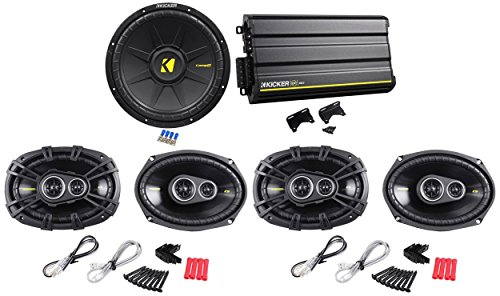 "Package: Kicker 12Cx6005 1200 Watt Peak/600 Watt Rms 5-Channel Class Ab/D Car Audio Amplifier + (2) Pair Of Kicker 40Cs6934 Cs693 6""X9"" 6X9 4-Ohm 3-Way Car Speakers Totaling 1800W + Kicker 40Cws124 Comps 12"" 600W 4-Ohm Svc Car Subwoofer"