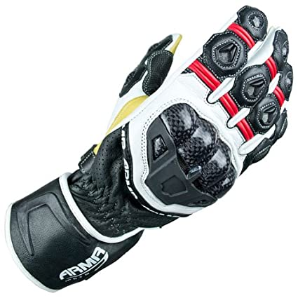 ARMR Moto S470 Motorcycle Gloves M Red/White/Black