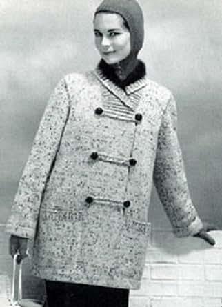 Amazon.com: Women's Silk Tweed Knitted Coat with Angora