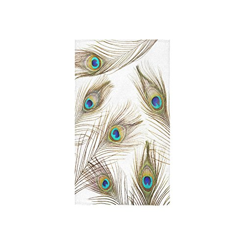Peacock Tail Feathers with Eyes Hand Towel Bath Towels For Bathroom